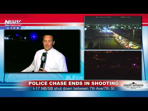 FREEWAY SHUTDOWN: Police subject closes I-17 in Phoenix, Arizona (FNN)