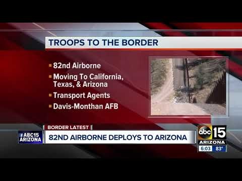 82nd Airborne unit deploying to Arizona, Mexico border